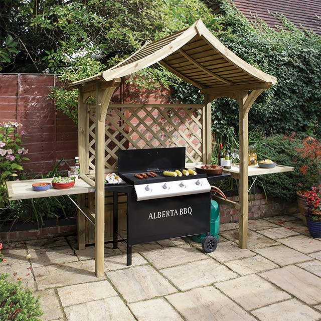 The Party Arbour - shown in BBQ shelter mode