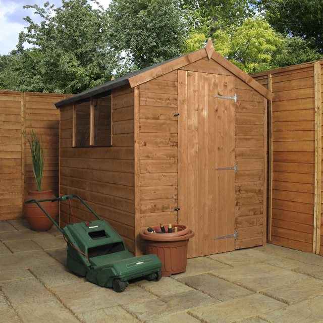 7 x 5 (2.13m x 1.60m) Mercia Shiplap Shed - Pressure Treated