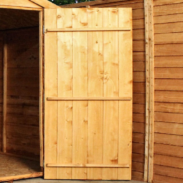 Mercia 8 x 6 (2.41m x 1.90m) Mercia Shiplap Shed with Double Doors - Pressure Treated
