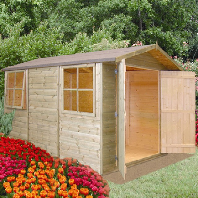 10 x 7 (2.97m x 2.05m) Shire Guernsey Apex Shed
