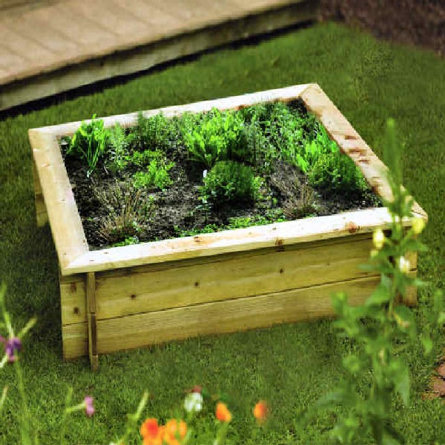 Rowlinson 4 x 4 (1200mm 1200mm) Raised Bed - Pressure Treated