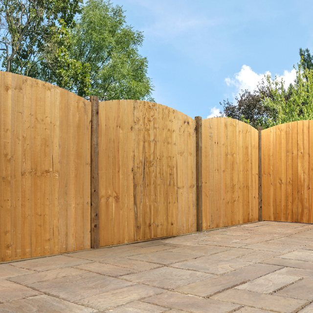 6ft High (1829mm) Mercia Vertical Feather Edge Domed Fencing Packs