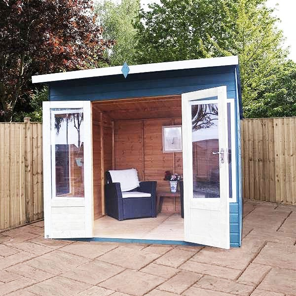 8 x 8 (2.40m x 2.42m) Mercia Helios Summerhouse