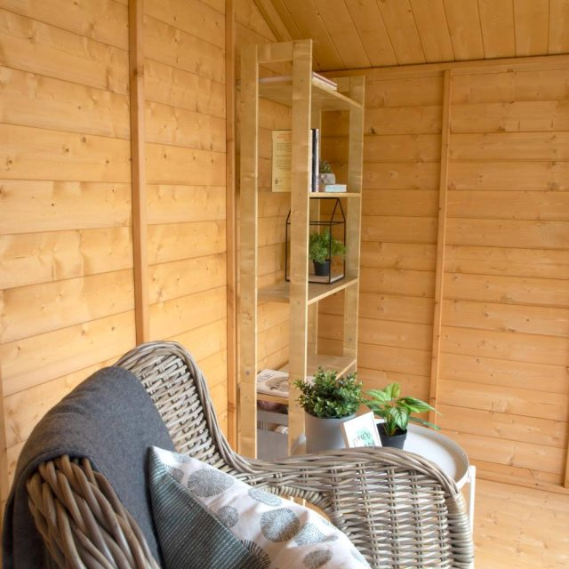 8 x 8 Mercia Premium Traditional T&G Summerhouse with Veranda - furnished interior shot