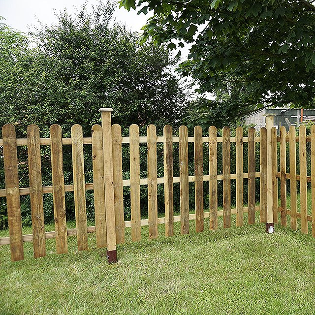 Mercia 4ft High 1220mm Mercia Palisade Round Top Fence