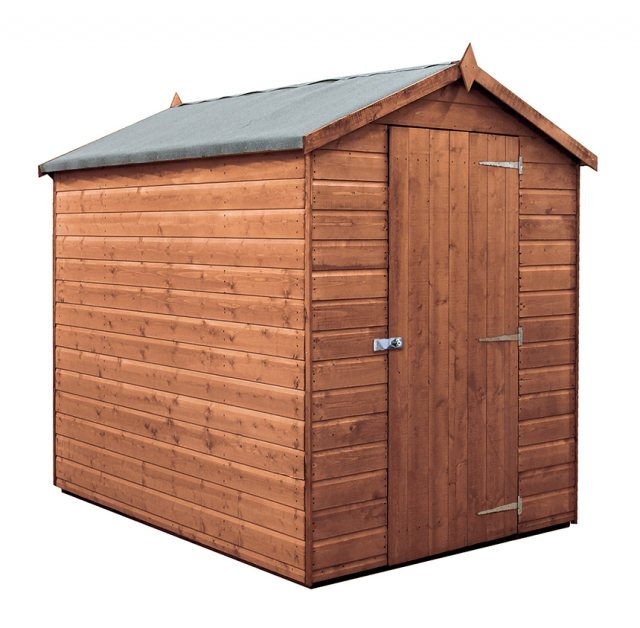 7x5  Mercia Premium Shiplap Shed - Pressure Treated - without background and door closed