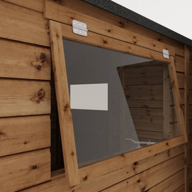 Mercia Premium Shiplap T&G Workshop - Pressure Treated - opening window close up