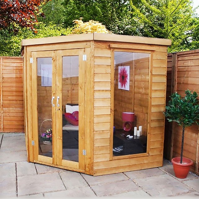 7 x 7 (1.99m x 1.99m) Mercia Corner Summerhouse