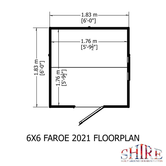6x6 shire shiplax apex shed plan