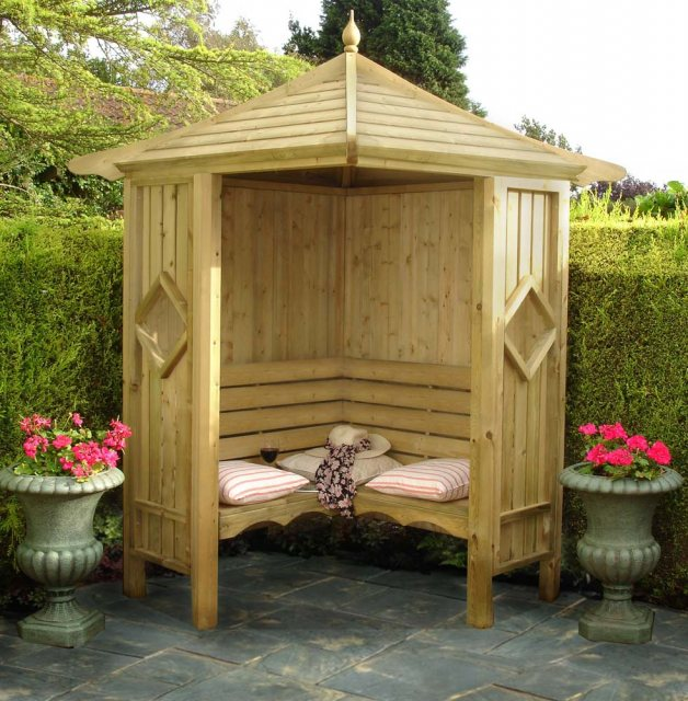 Shire Shire Heritage Corner Arbour - Pressure Treated