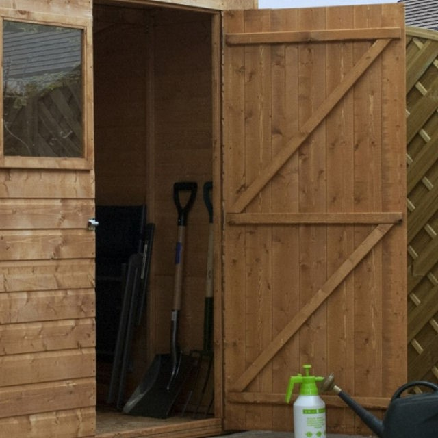 4 x 6 (1.27m x 1.80m) Mercia Shiplap Pent Shed with Single Door