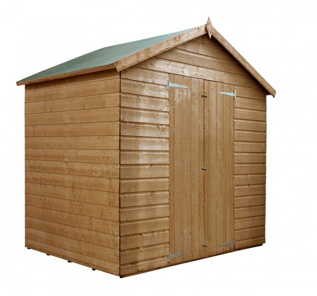 4x6 Mercia Shiplap Shed - Pressure Treated - without background and doors closed