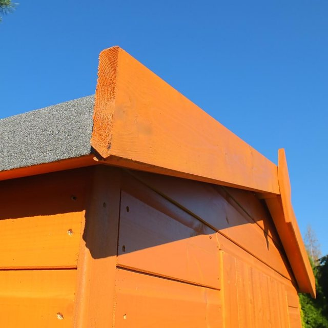 Shire Security Professional Shed - Detail of wall and roof