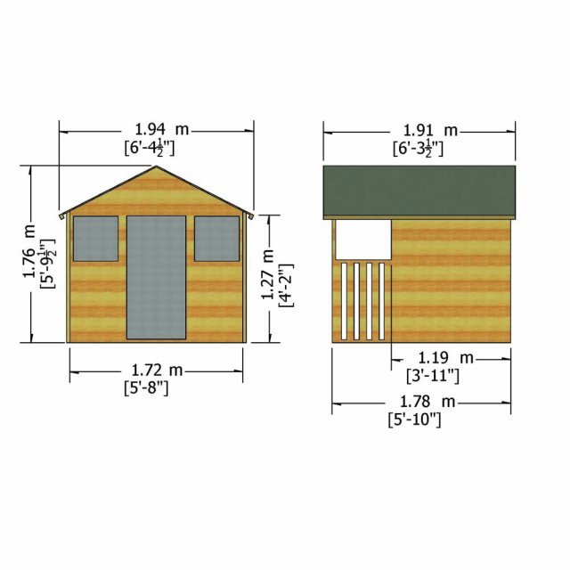 Shire Hobby Playhouse - Dimensions