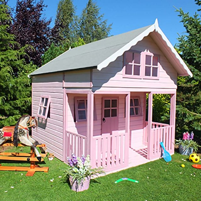 Shire Lodge Two Storey Playhouse - Pretty in pink