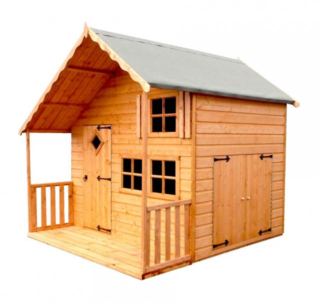 Shire Crib Playhouse with Integral Garage - Isolated
