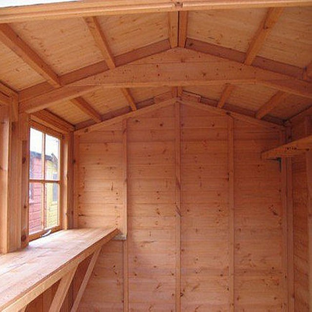 Shire Bison Professional Apex Shed - interior