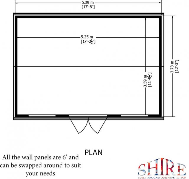 Shire Mammoth Professional Apex Shed - base plan