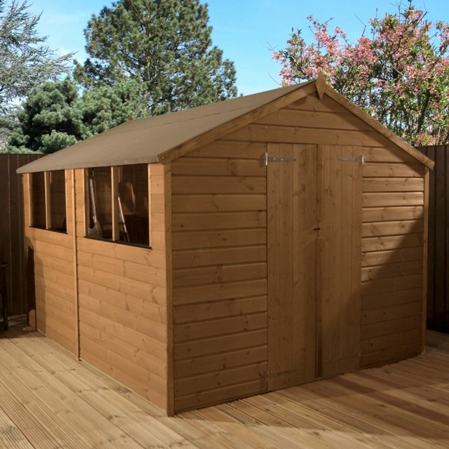 10 x 8 Mercia Shiplap Shed with Double Doors - Pressure Treated