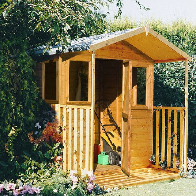 Shire Orkney Professional Apex Shed - includes a 3ft Verandah