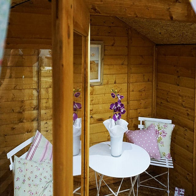 Mercia 7 x 7 (2.30m x 2.20m) Mercia Shiplap Traditional Summerhouse with Veranda