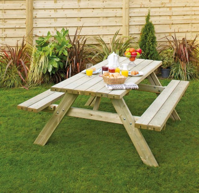 Grange Grange Oblong Table with Foldable Seats