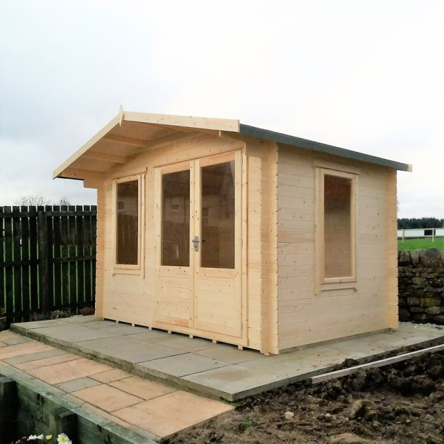11 x 8 Shire Berryfield Log Cabin - External dimensions