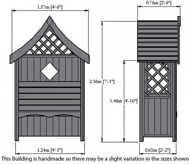Shire Rose Arbour - Dimensions