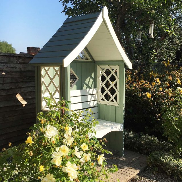 Shire Rose Arbour - Customer Painted- Mint Green