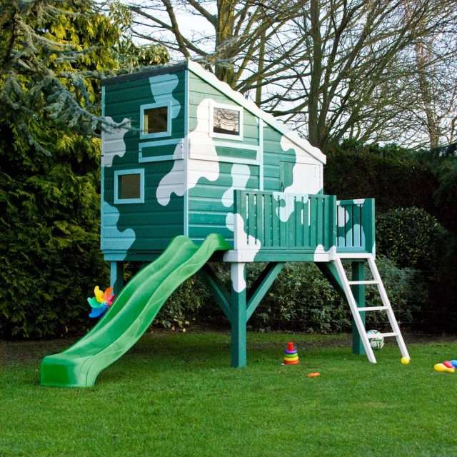 Shire Command Post Tower Playhouse with optional slide