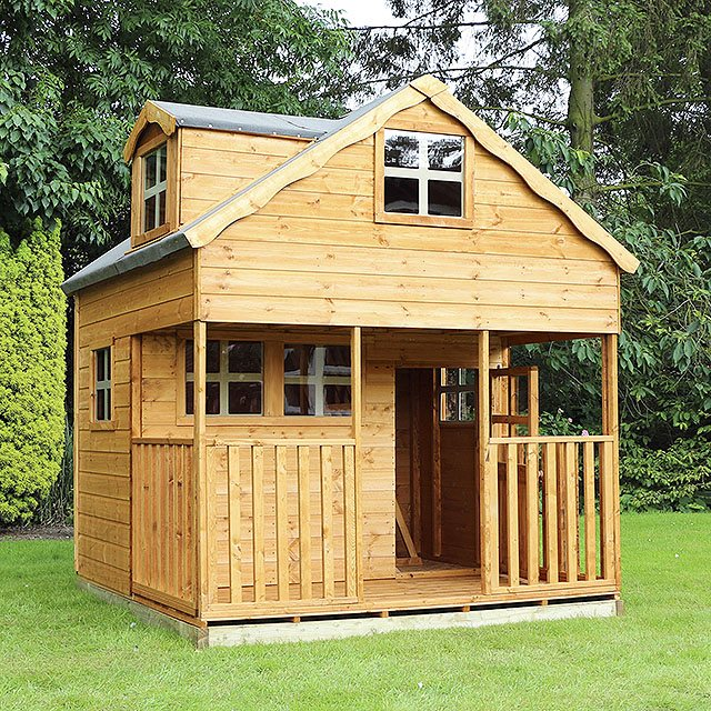 Mercia 7 x 7 (2.2m x 2.2m) Mercia Dormer Playhouse