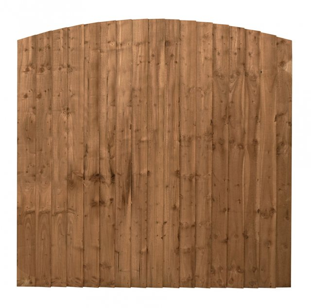 Mercia 6ft High (1829mm) Mercia Vertical Feather Edge Domed Fence Panels - Pressure Treated