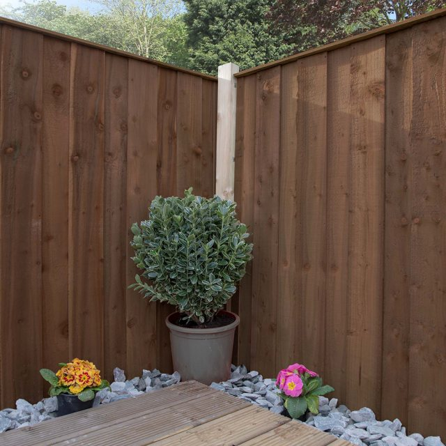 Mercia 3ft High (915mm) Mercia Closeboard Vertical Hit and Miss Fence Panels - Pressure Treated