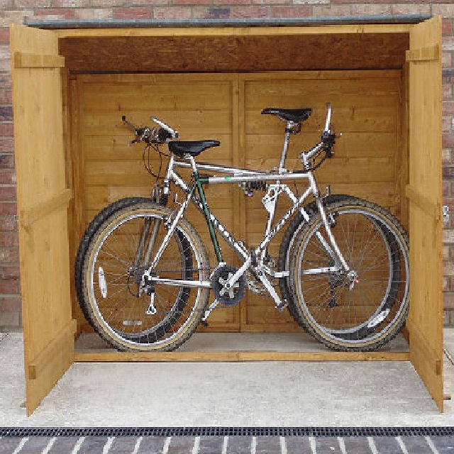 Shire 2 x 6 (0.69m x 1.85m) Shire Shiplap Pent Bike Storage (no floor)