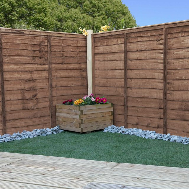 Waney Edge Lap Fencing - Pressure Treated