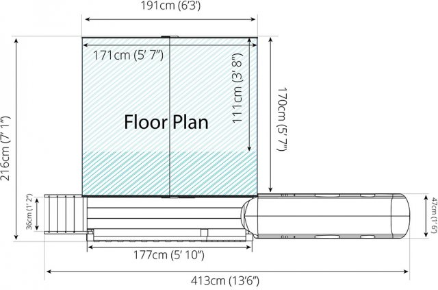 6 x 5 (2.40m x 2.20m) Mercia Honeysuckle Tower Playhouse and Slide Plan