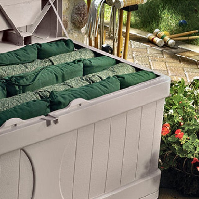 Suncast 5 x 3 (1.35 x 0.74m) Suncast Plastic Large Garden Storage Box with Seat
