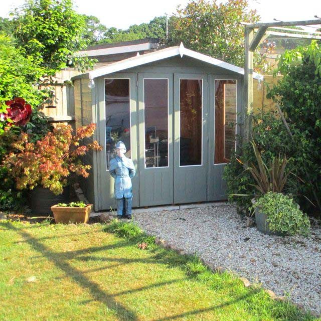 Shire Parham Summerhouse - painted