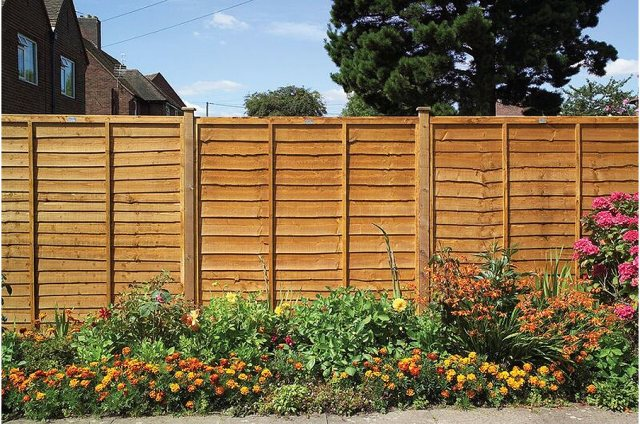 Grange Lap Fencing - Golden Brown