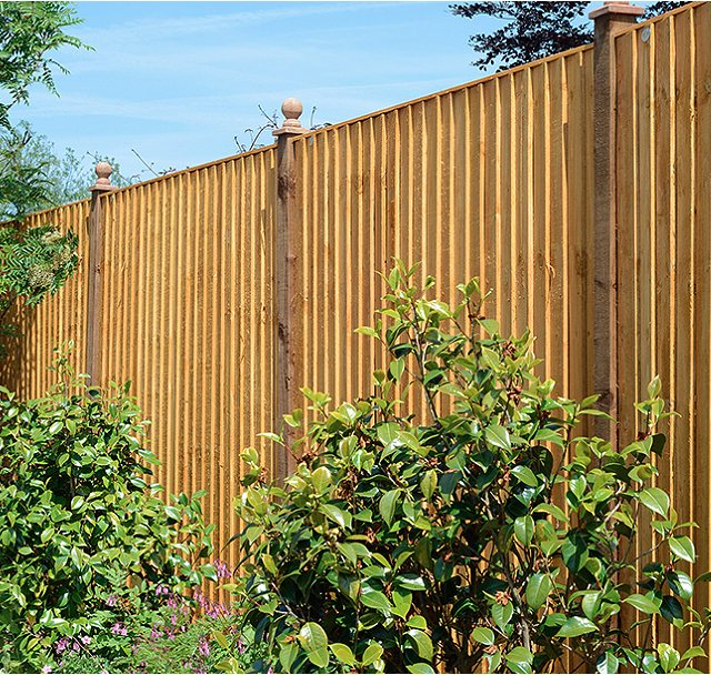 Grange Standard Feather Edge Fencing - Golden Brown