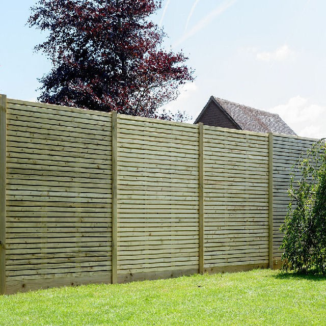 Grange 6ft High (1800mm) Grange Contemporary Pressure Treated Fencing Packs