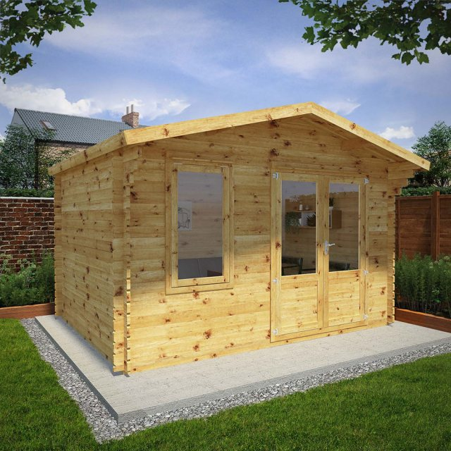 Mercia Retreat Log Cabin 13G x 10 (4.00m x 3.00m)
