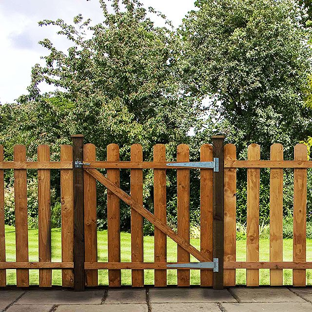 4ft Mercia Palisade Round Top Gate