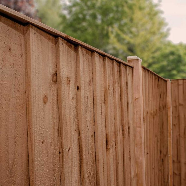 Mercia 6ft High (1829mm) Mercia Vertical Feather Edge Flat Top Fencing Pack - Pressure Treated
