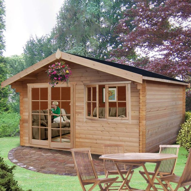 12 x 14 Shire Abbeyford Log Cabin