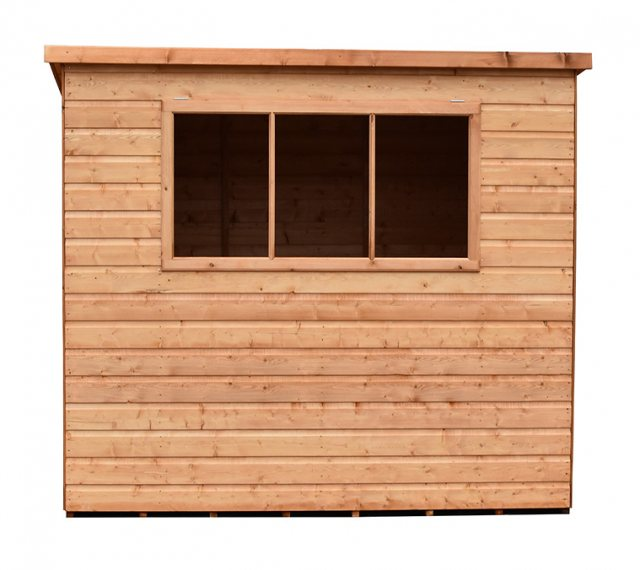 Shire 8 x 6 (2.39m x 1.79m) Shire Caldey Professional Pent Shed