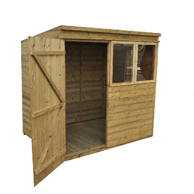 5 x 7 (1.53m x 2.06m) Forest Tongue and Groove Pressure Treated Pent Shed