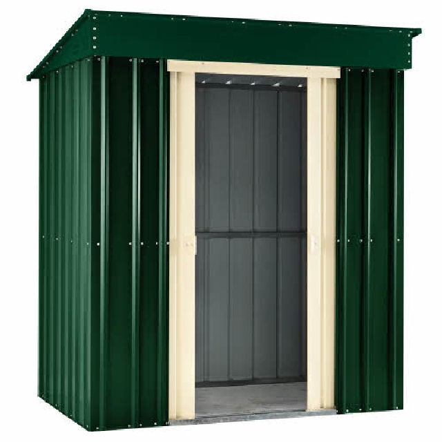 Lotus Pent Metal Shed (Heritage Green)