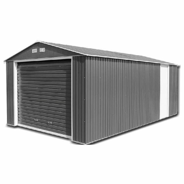 Sapphire Olympian Metal Garage (Anthracite)
