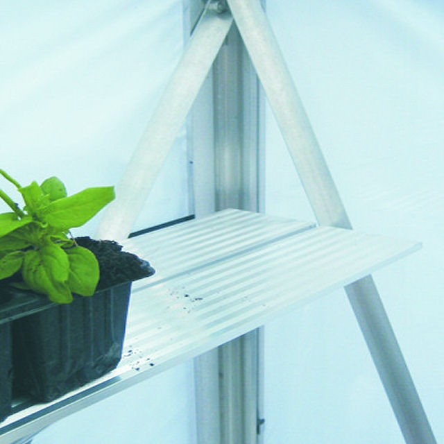 Elite Greenhouses 2 Slat Elite Diamond Shelving - 4ft Long (Aluminium)